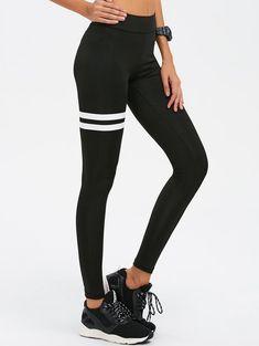 $11.99 for Skinny High Waist Gym Leggings BLACK: Active Bottoms   ZAFUL