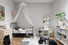 Dormitorio infantil unisex con estilo nórdico