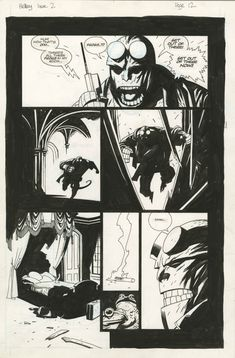 HELLBOY – SEED OF DESTRUCTION #2 PAGE 12 ( 1994, MIKE MIGNOLA ) Comic Art
