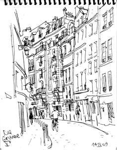 https://flic.kr/p/9AEEge | Paris47 | Ink sketching in the streets of Paris