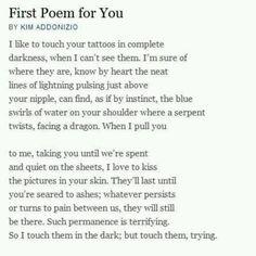 Kim Addonizio; First Poem for You