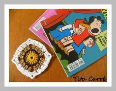 Tita Carré - Agulha e Tricot : Um pouco de Luluzinha em um Square de Crochet