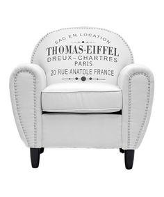 Beige 'Thomas-Eiffel' Rustic Armchair