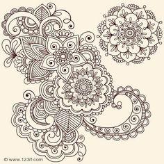 lotus+mandala+tattoo+flash | Henna Flower Tattoo Designs