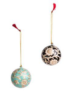 KASHMIRXMASL BALL dekoration svart | Garland/window decor | Garland/window decorations | Dekorationer | Home | INDISKA Shop Online