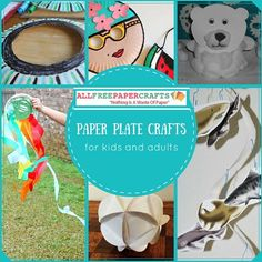 1000 images about paper plate crafts on pinterest paper for Paper plate crafts for adults