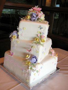 Pastel Florals Wedding by Elegant Cake Creations AZ, via Flickr