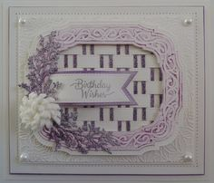 Dies by Sue Wilson Shows on Hochanda December One Day Special - Sue Wilson Dies, Paper Weaving, Spellbinders Cards, Birthday Cards, Card Making, Paper Crafts, Creative, Frame, Projects