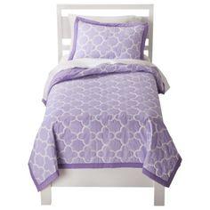Circo® Quatrefoil Quilt Set - Purple - $70 quilt/sham