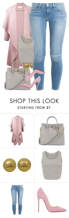 """Untitled #1485"" by power-beauty ❤ liked on Polyvore featuring Chloé, Michael Kors, Chanel, Frame Denim, Christian Louboutin, women's clothing, women, female, woman and misses"