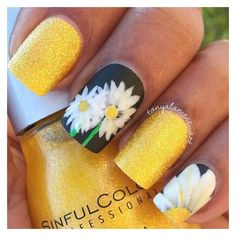 Daisy Manicure ❤ liked on Polyvore featuring beauty products, nail care, makeup and nails