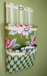 Hanging Mail Organizer - Crafty quilters ready to clean up all of the mail…