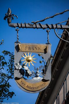 "Tavern-sign of the Hotel/Restaurant ""Vier Jahreszeiten"" [Four Seasons] in Bad-Urach, Germany."