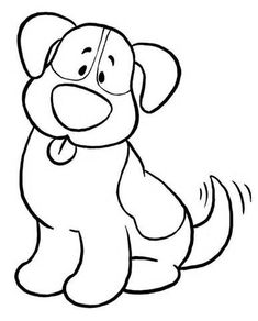 Free Coloring Pages Of A Simple Dog