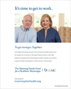 The Manning Family Fund for a Healthier Mississippi - Archie and Olivia Manning, print ad (Aug. 2014). http://www.manningsforhealth.org