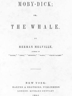1851, Moby-Dick, Herman Melville, US #mobydick (347)