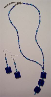 Don't forget! PROM season is nearly upon us. If you want something unique, handmade and gorgeous, then check out my website for the best jewellery around! I also do custom designs so you can get exactly what you want to match the dress you've spent a lot of time and money on. Hope to see you soon!! xx Swarovski Crystal & Square Glass Bead Necklace and Earring Set : Ocean Blue - also available in various colours.