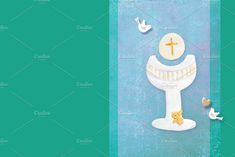 First Communion invite backgroun by MARUBAKIS on @creativemarket
