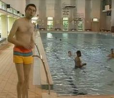Mr Bean - Zwembad. Leuk voor de vrijdagmiddag! Mr Bean, Films, Movies, Spelling, Beans, King, School, Unique, Funny