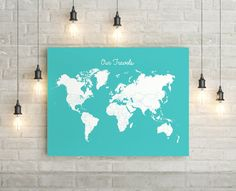 Travel tracker canvas world map pins included choose size travel tracker canvas world map pins included choose size color products pinterest gumiabroncs Images