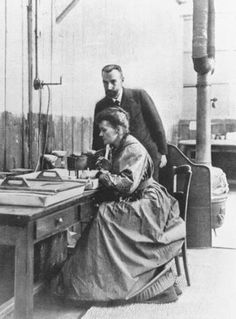 """Photo: The Curies, 1903 - the year they received the Nobel for their """"joint researches on the radiation phenomena discovered by Professor Henri Becquerel."""""""