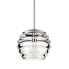 Buy the WAC Lighting Brushed Nickel Direct. Shop for the WAC Lighting Brushed Nickel Clarity 1 Light Low Voltage Monopoint Mini Pendant - 6 Inches Wide and save. Kitchen Ceiling Lights, Kitchen Pendant Lighting, Kitchen Pendants, Glass Pendants, Track Lighting Fixtures, Strip Lighting, Modern Lighting, Basement Lighting, House Lighting