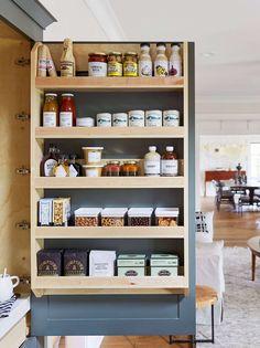 Cupboard Shelves, Kitchen Cabinet Organization, Home Organization, Kitchen Cabinets, Kitchen Pantry, Door Shelves, Cabinet Ideas, Shelf Ideas, Rustic Kitchen