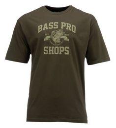 Bass Pro Shops 1972 Logo T-Shirt for Men - Olive - L