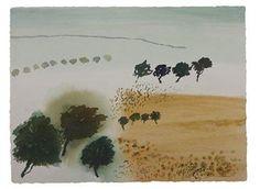 © Guy Warren ~ Fowler's Land II ~ 2011 Watercolour on paper at Olsen Irwin Gallery Sydney Australia