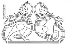 Viking and Celtic Interlocking Lines Pattern Package - Ireland has been invaded innumerable times over their early centuries and one of the cultures thathad a great impact on the Irish art were the Vikings.Bringing their folk art of mythical creatures and interlockingline designs eventually transformed into what we knowtoday as Celtic work. We have created a design package that contains twenty-five patterns based on the Viking style of animals for your burning / carving fun.