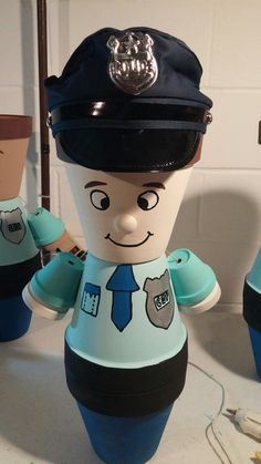 Police officer pot person