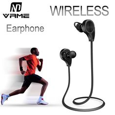 Vrme Bluetooth Headphones Wireless Earphone Stereo Headset Voice Control Hands-free Sport Earbuds with Mic for Xiaomi Iphone 6