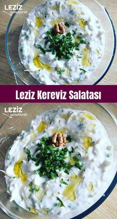 Leziz Kereviz Salatası – Leziz Yemeklerim – Vegan yemek tarifleri – The Most Practical and Easy Recipes Celery Salad, Turkish Kitchen, Appetizer Salads, Yummy Food, Tasty, Steak Recipes, Food And Drink, Healthy Recipes, Dinner