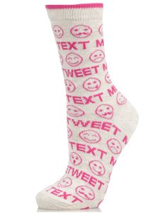 Text Me Tweet Me Socks | Camel | Accessorize