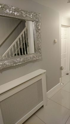 Dulux chic shadow... So light and airy.. Calm clean grey More #hallwayideasnarrow