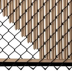 Beige Ridged Slats for Chain Link Fence Privacy Landscaping, Small Backyard Landscaping, Bali Garden, Lawn And Garden, Backyard Gates, Vinyl Privacy Fence, Welded Furniture, Small Balcony Design, Chain Link Fence