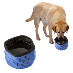 Best Travel Dog Bowl PoPo-Show Feed Your Pet When Traveling On The Go Oxford Cloth Collapsible Folding Food