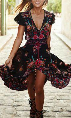 Lovely rose high low dress