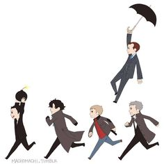 Team It's Apparently Really Hard to Find an Image of Sherlock, John, Lestrade, Mycroft & Moriarty Just Because They're Never on Screen Together at the Same Time in BBC's Sherlock But Whatever