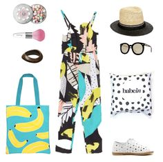Powder & Brush: Gurlain Metiorites, Bangle: Mimco Dive In, Tote Bag: Sunnylife Australia Cool Bananas, Pantsuit: Gorman Cruel Summer, Staw Hat Asos AU Catarzi, Sunglasses: Karen Walker Super Duper, Babywearing Wrap: Babein Odd Spot, Shoes: Midas Jeremy. http://shop.babein.com.au/product/odd-spot-wrap