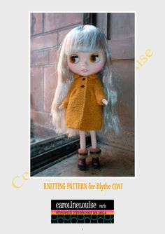 PDF Pattern for Blythe knitted coat
