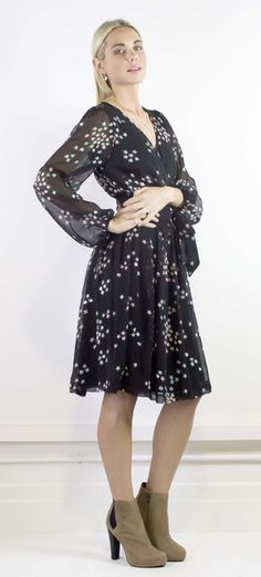 Flawlessly flattering star sequin wrap dress #halcyonstate