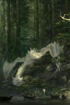 White dragon by xiaodi