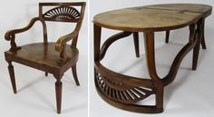 Another example of a chair that can become a table, this one by flipping the seat backwards onto the floor. France, early 19th century.  Metamorphic Furniture: The Original Small Space Solutions | Apartment Therapy