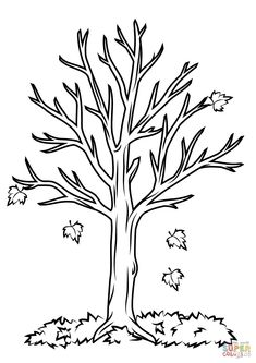 Fall Coloring Pages For Kids Fall Tree Coloring Page Free Printable Coloring Pages Fall Coloring Sheets, Fall Coloring Pages, Coloring Pages To Print, Free Printable Coloring Pages, Coloring Pages For Kids, Coloring Books, Kids Coloring, Free Coloring, Crayola Coloring Pages