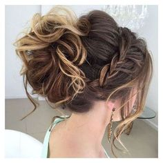 40 Most Delightful Prom Updos for Long Hair in 2016 liked on Polyvore featuring hair, prom hair accessories, prom crowns, braid crown, long hair accessories and formal hair accessories