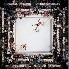 Aerial view of Muhammad Ali standing victorious after a third round knockout of Cleveland Williams their 1966 during fight at The Astrodome. (Neil Leifer/SI) SI VAULT: Ali in charge, scores easy victory over Williams GALLERY: A Tribute to Muhammad Ali Mohamed Ali, Houston Tx, Boxe Fitness, Neil Leifer, André Kertesz, Sting Like A Bee, Man Stuff, Landscape Photography, Rare Photos