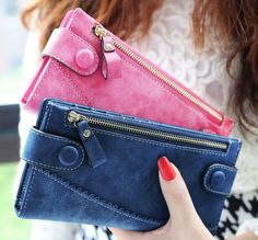 Women Leather Purse Long Wallet Clutch Bag Card Holder Organizer Bifold Handbag