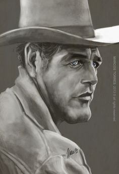 caricature of paul newman - Google Search