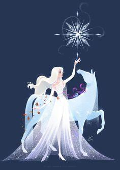 Disney Frozen 2 Die Eiskönigin Elsa Anna Arendelle Nokk into the unknown Elsanna Frozen Disney, Frozen Art, Film Disney, Disney Movies, Elsa Frozen, Disney Crossovers, Disney Stuff, Disney Princess Drawings, Disney Princess Art